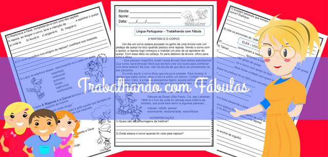TRABALHANDO COM FÁBULAS - INTERPRETAÇÃO E GRAMÁTICA