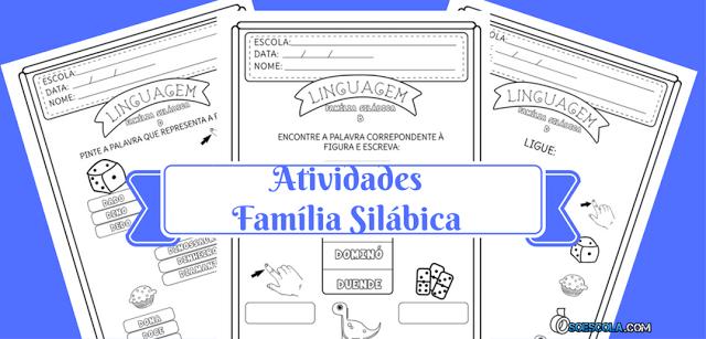 Atividades Família Silábica - D