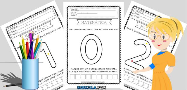 Atividades de Matemática: Contar e Colorir