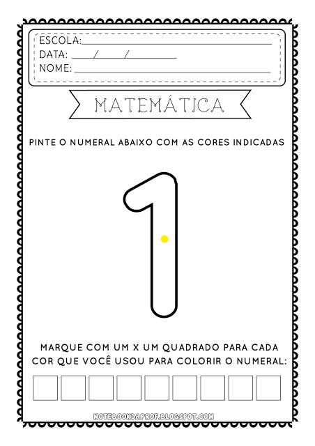 Atividades Matematica Imprimir Colorir Contar Numerais 0 1 2 3 4 5