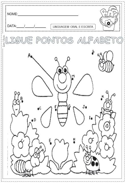 ligue pontos alfabeto pontilhados28129 sÓ escola