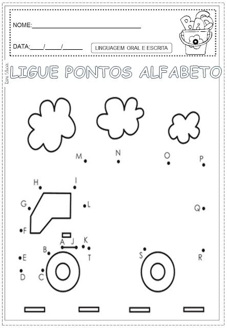 ligue pontos alfabeto pontilhados28329 sÓ escola