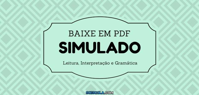 Simulado de Português em PDF