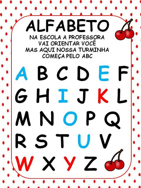 CARTAZ ALFABETO
