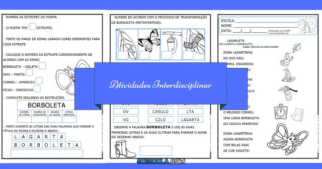 Atividades Interdisciplinar para 1º e 2º ano