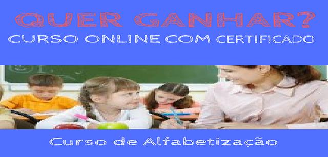 Sorteio - Curso Online de Alfabetização com Certificado