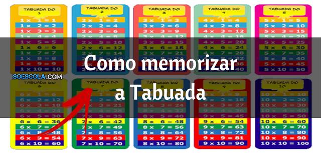 Como memorizar a Tabuada