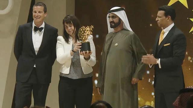 Maggie MacDonnell conquistou o Global Teacher Prize, o Nobel da Educação. O brasileiro Wemerson Nogueira era um dos finalistas