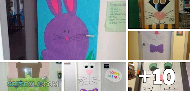 16 Ideias de portas decoradas com o tema Páscoa.