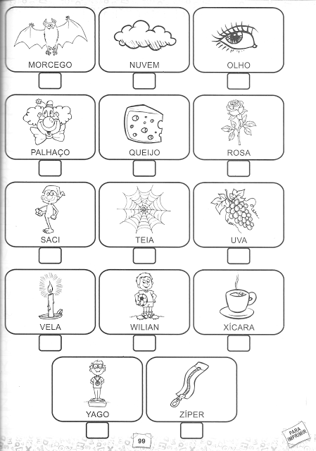 Atividades - Alfabeto Ilustrado