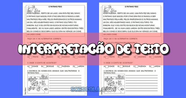 Atividades prontas para imprimir para trabalhar interpretação de texto indicada a alunos do segundo ano do Ensino Fundamental.