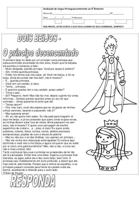 Prova de Língua Portuguesa - O príncipe desencantado