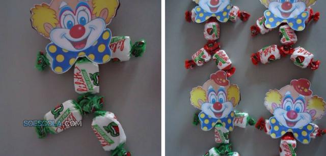 Lembrancinha de Palhaço para o Dia do Circo com moldes para imprimir