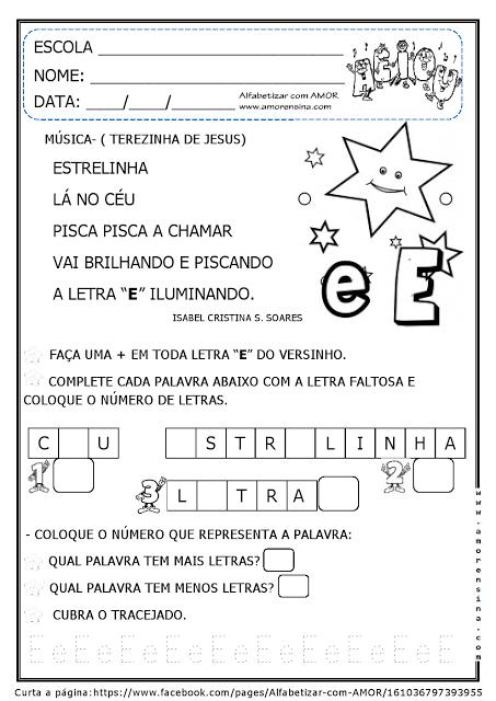 Trabalhando vogais através de cantigas