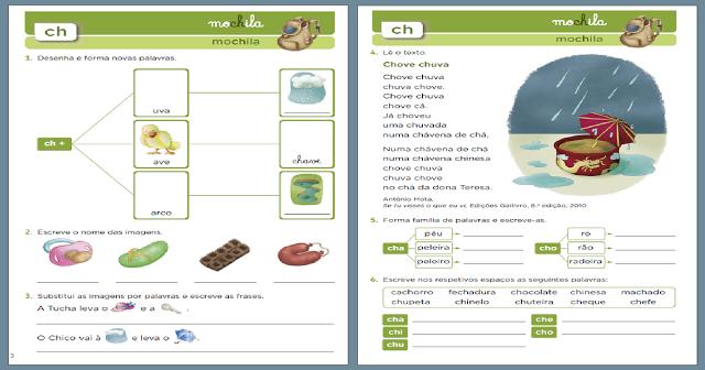 Atividades com CH - Para Imprimir - Atividades Educativas