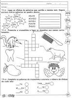 Atividades de Alfabetização - Juntando Sílabas