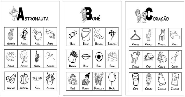 """Confira """"Dicionário – Turma da Mônica"""" com fichas prontas para imprimir para cada letra do Alfabeto imprimir e baixar em PDF."""