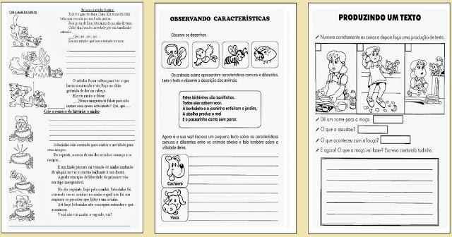 Confira Atividades de Língua Portuguesa, indicada a alunos do Ensino Fundamental para trabalhar Produção de Texto do 2º ao 5º ano.