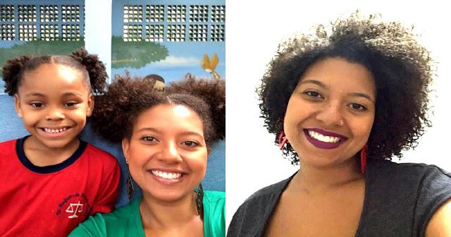 Professora faz mesmo penteado de aluna que sofreu bullying