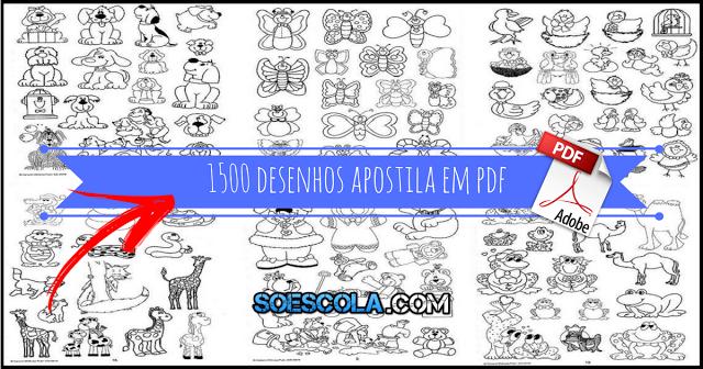 Apostila com mais de 1500 desenhos para te auxiliar na montagem de atividades para alunos da educação infantil e ensino fundamental. Baixe em PDF.