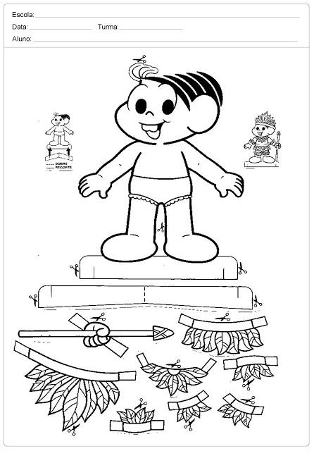 Confira diversas atividades educativas prontas para imprimir - dia do índio.