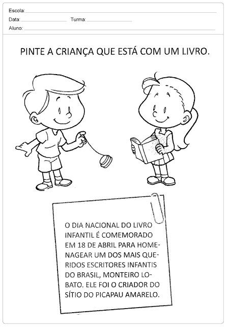 Atividades para o Dia do Livro Infantil.