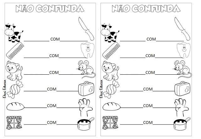 Atividades para alfabetização, indicada a alunos do 2º ano do Ensino Fundamental.
