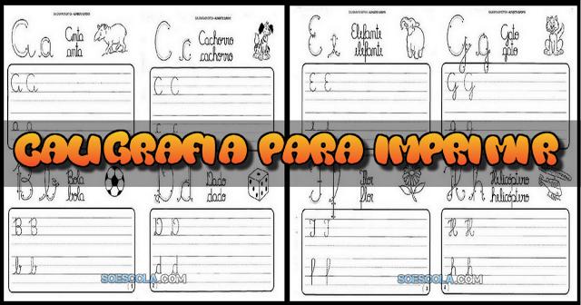 Selecionamos algumas atividades de caligrafia para que você monte um caderno de caligrafia para que seus pequenos treinem suas letras.