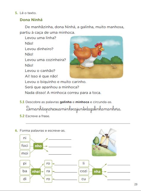 Atividades de Ortografia trabalhando com NH para alfabetização, com exercícios prontos para imprimir, para o ensino fundamental.