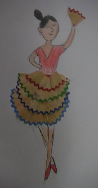 Atividades com raspas de lápis de cor
