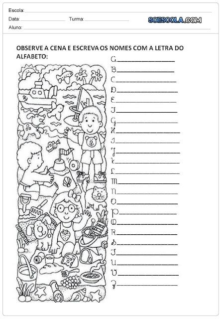 Atividades para Imprimir - Letras Cursivas