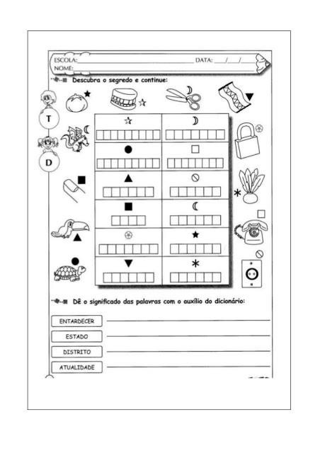 Atividades de Ortografia prontas para imprimir e disponível para download em WORD, indicado a alunos das series iniciais.