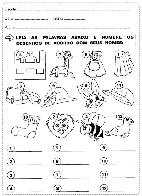 Confira atividades de português prontas para imprimir, indicada a alunos do primeiro ano do Ensino Fundamental. Disponível em PDF.