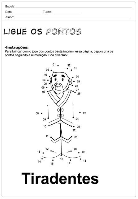 Confira algumas atividades sobre o tiradentes para imprimir, atividades educativas para ajudar os professores em sala de aula