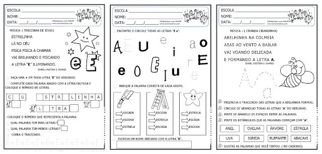 Trabalhando vogais através de cantigas para primeiro e segundo ano