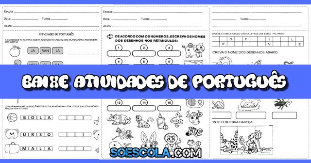Confira nesta postagem Atividades de português 1° ano ensino fundamental prontas para imprimir e disponível em PDF.