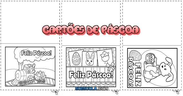 Nesta postagem trago para vocês 5 tipos de cartões de páscoa diferentes e prontos para imprimir que podem ser coloridos.