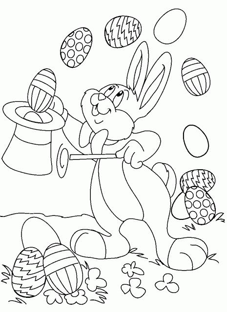 Desenhos de Páscoa para Imprimir e Colorir