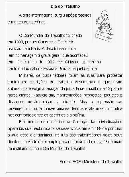 Confira atividades prontas para imprimir para trabalhar o Dia do Trabalho, 1º de Maio.