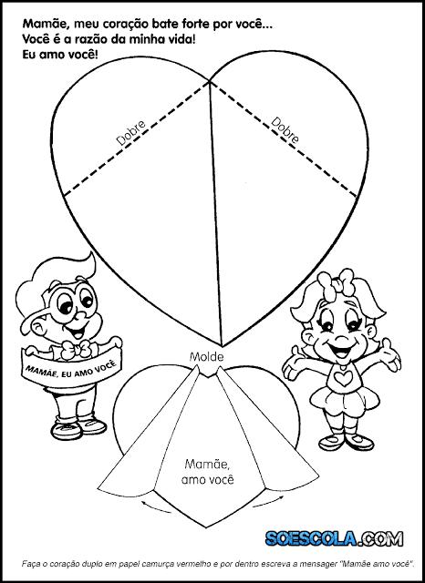 Nesta postagem selecionamos para vocês um modelo de cartão de coração para o dia das mães pronto para imprimir.