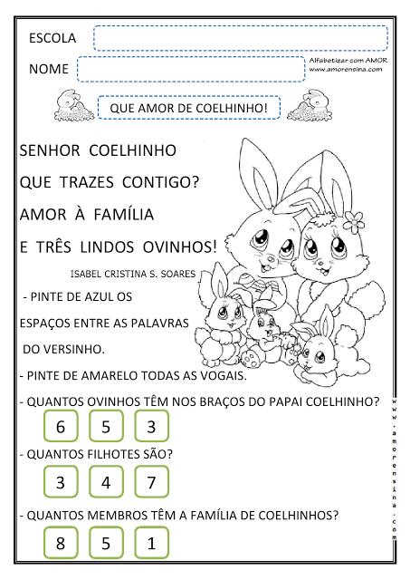 Atividades: Páscoa para Educação Infantil