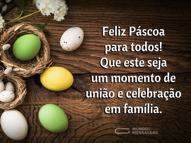 Mensagem de Páscoa para Facebook - Imagens com texto