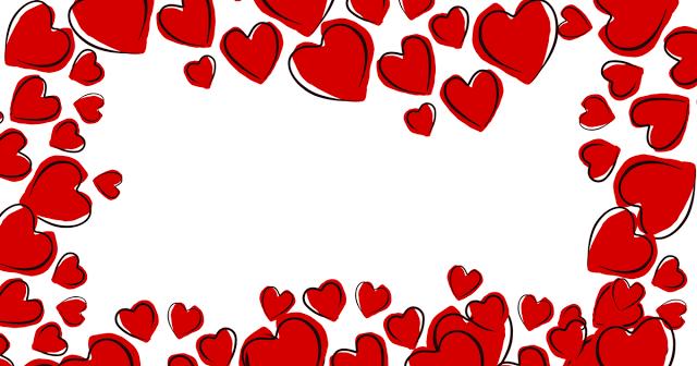 Modelo de cartão de coração para o dia das mães