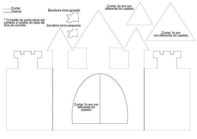 Um conto no castelo - Molde de castelo para imprimir em EVA