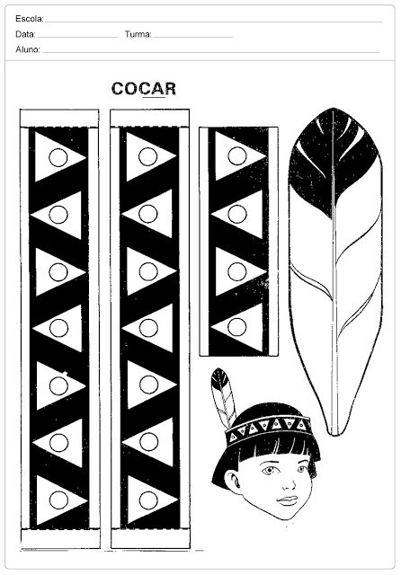 Confira Moldes de Cocar de Índio