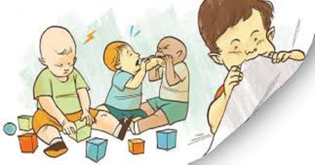 A mordida é comum entre crianças de um a três anos e se estabelece como uma forma de comunicação.