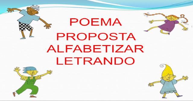 Proposta de Alfabetizar Letrando - Poemas