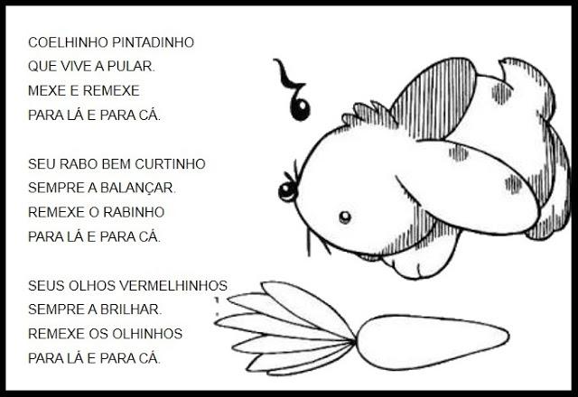 Nesta postagem confira um poema curto para imprimir para trabalhar na páscoa.