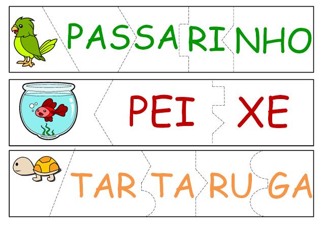 Nesta postagem trago para vocês uma sugestão de jogo pedagógico para trabalhar as sílabas.