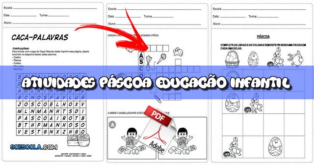 Sequência de Atividades de Páscoa para Educação Infantil